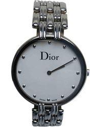 Dior D Silber Uhren - Grau