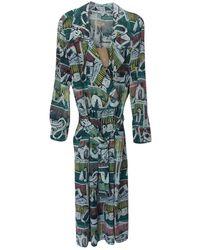 Burberry Silk Mid-length Dress - Multicolour