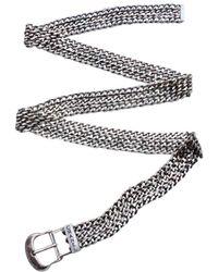 Chanel Silver Chain Belt - Metallic