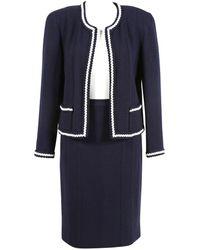Chanel Blue Wool Jacket