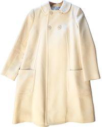 Dior Mantel en Laine Blanc