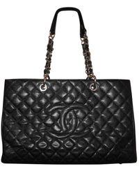 Chanel Bolso Grand shopping de Cuero - Negro