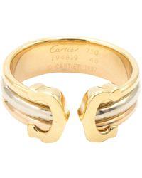 Cartier Anillo en oro amarillo dorado C - Metálico