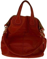 Givenchy Nightingale Leder Shopper - Rot