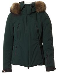 Moncler - Green Polyester Coats - Lyst