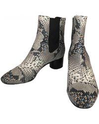 Isabel Marant Danae Leather Ankle Boots - Multicolour