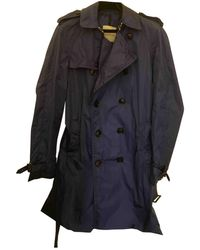 Moncler Cappotto in poliestere blu
