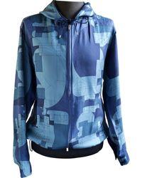 Hermès Blue Silk Jacket