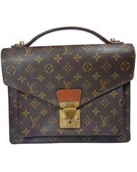 Louis Vuitton Concorde Cloth Handbag - Brown
