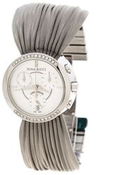 Nina Ricci Silver Steel Watch - Metallic