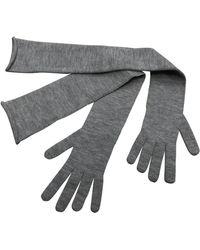 Brunello Cucinelli Cashmere Long Gloves - Grey