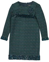 Chanel Wolle Mini Kleid - Grün
