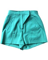 Proenza Schouler \n Green Cotton - Elasthane Shorts
