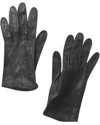 Dior Gants en Cuir Noir
