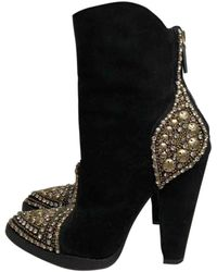 Balmain Boots en Suede Noir