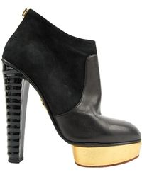 Charlotte Olympia - Black Leather Boots - Lyst