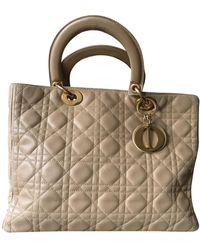 Dior Lady Leder Handtaschen - Natur