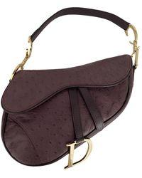 Dior Borsa Saddle in Struzzo - Multicolore