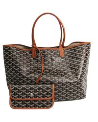 Goyard Black Cloth Handbag