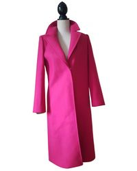 Claudie Pierlot Wool Coat - Pink