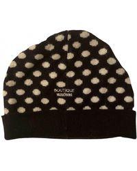 Moschino Bonnet en laine - Noir