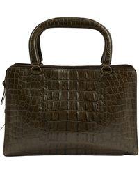 Miu Miu Green Crocodile Handbag