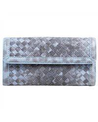 Bottega Veneta Blue Leather Wallets