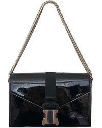 Christopher Kane Patent Leather Handbag - Black