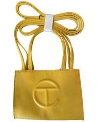 Telfar Leather Crossbody Bag - Yellow