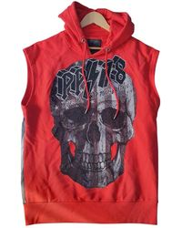 Philipp Plein Red Cotton Knitwear & Sweatshirt