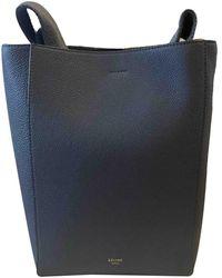 Celine Seau Sangle Leather Handbag - Blue
