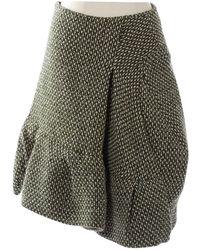 Marni - Green Wool Skirt - Lyst