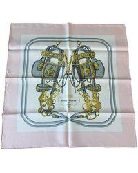 Hermès Foulards Gavroche 45 en Soie Multicolore