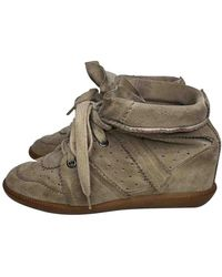 Isabel Marant - Bobby Khaki Suede Trainers - Lyst