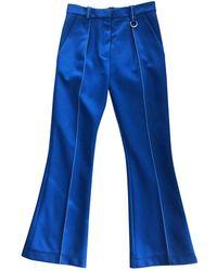 Louis Vuitton Blue Spandex Trousers