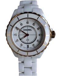 Chanel J12 Quartz White Pink Gold Watches