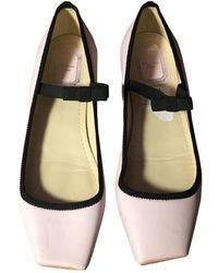 Dior Etoile Leder Ballerinas - Pink