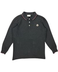 Moncler Polo in LOWER()Cotone LOWER()Grigio