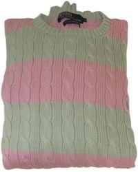 Ralph Lauren Collection - Pre-owned Green Cotton Knitwear & Sweatshirt - Lyst