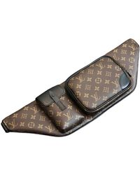 Louis Vuitton Borsa Christopher Backpack in Tela - Marrone