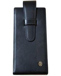 Cartier Black Leather Purse Wallet & Case