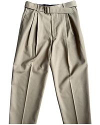 Dries Van Noten Pantalon en laine - Neutre