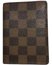 Louis Vuitton Piccola pelletteria in tela marrone