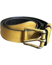 Jil Sander Yellow Leather Belts