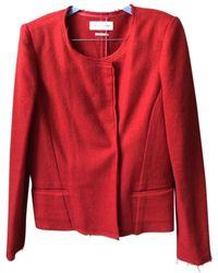 Étoile Isabel Marant Chaqueta en lana rojo