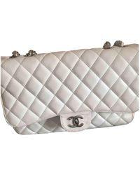 Chanel Timeless Leather Handbag - White