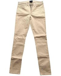 Acne Studios Beige Cotton - Elasthane Jeans - Natural
