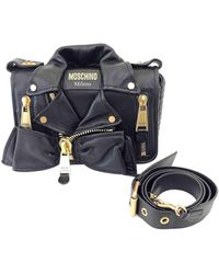 Moschino Biker Black Leather Handbag