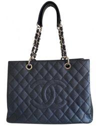 Chanel Tote bag Grand shopping in Pelle - Nero