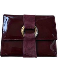 Cartier Patent Leather Wallet - Purple